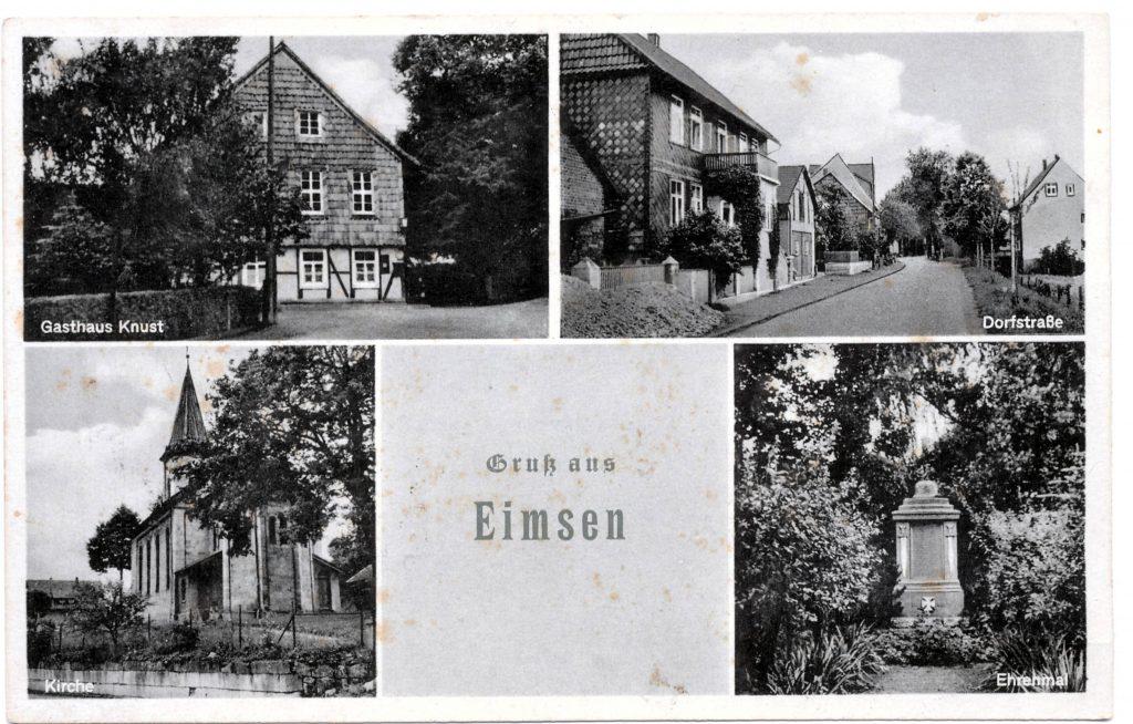 Postkarte aus den frühen 1950ern
